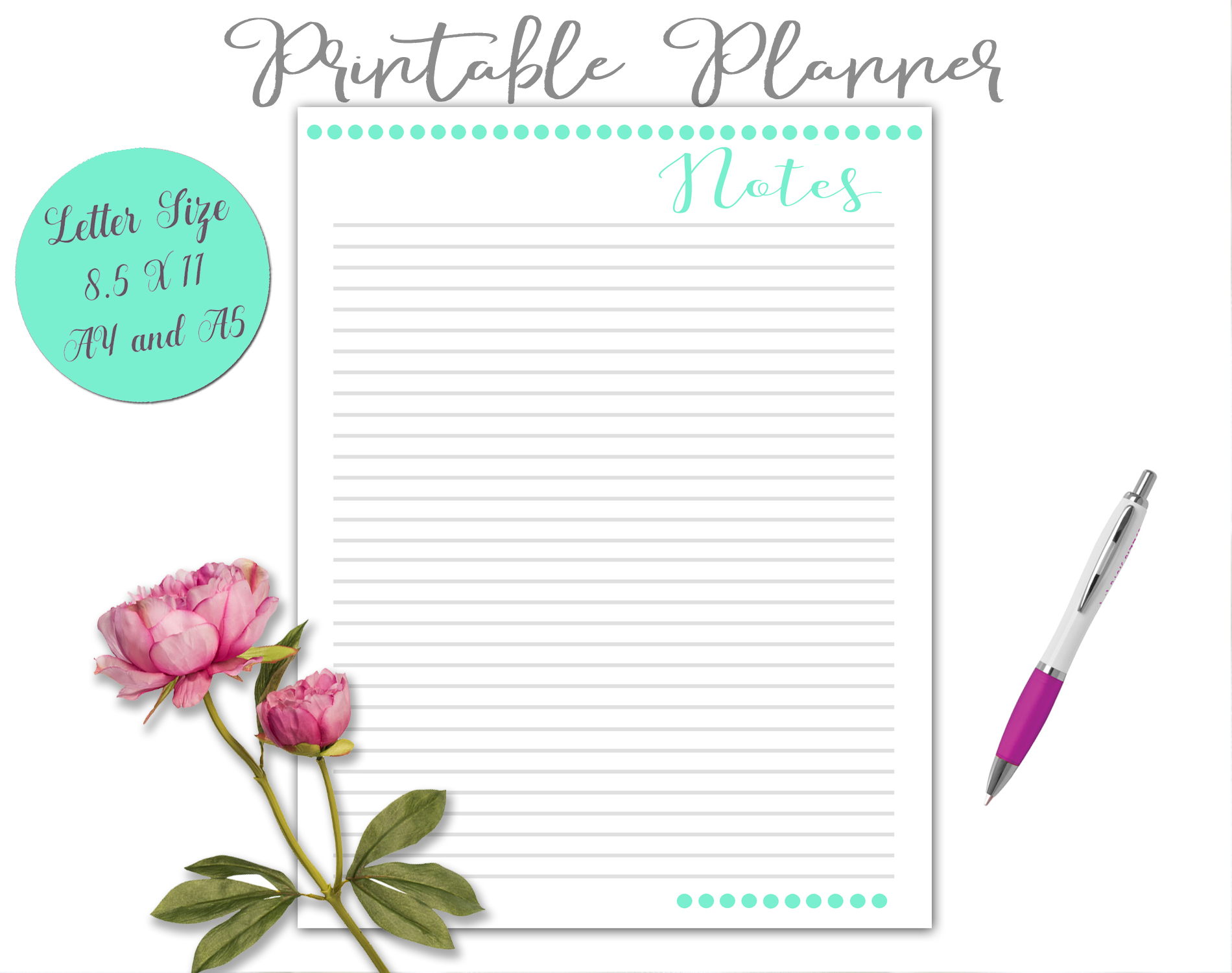 Printable Daily Weekly Monthly Planner Sheets example image 10
