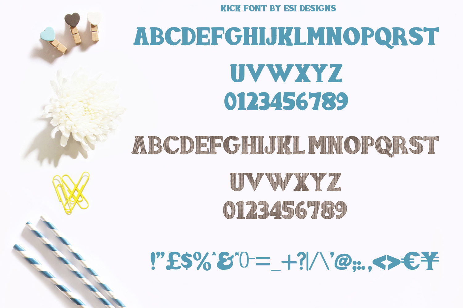 Kick Font - Solid and Chevron example image 2