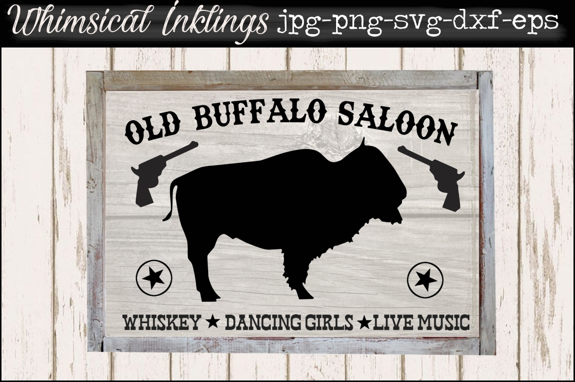 Old Buffalo Saloon SVG example image 1
