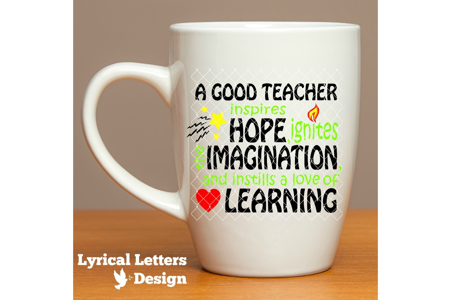 A Good Teacher Inspires Hope SVG Cut File LL035A example image 2