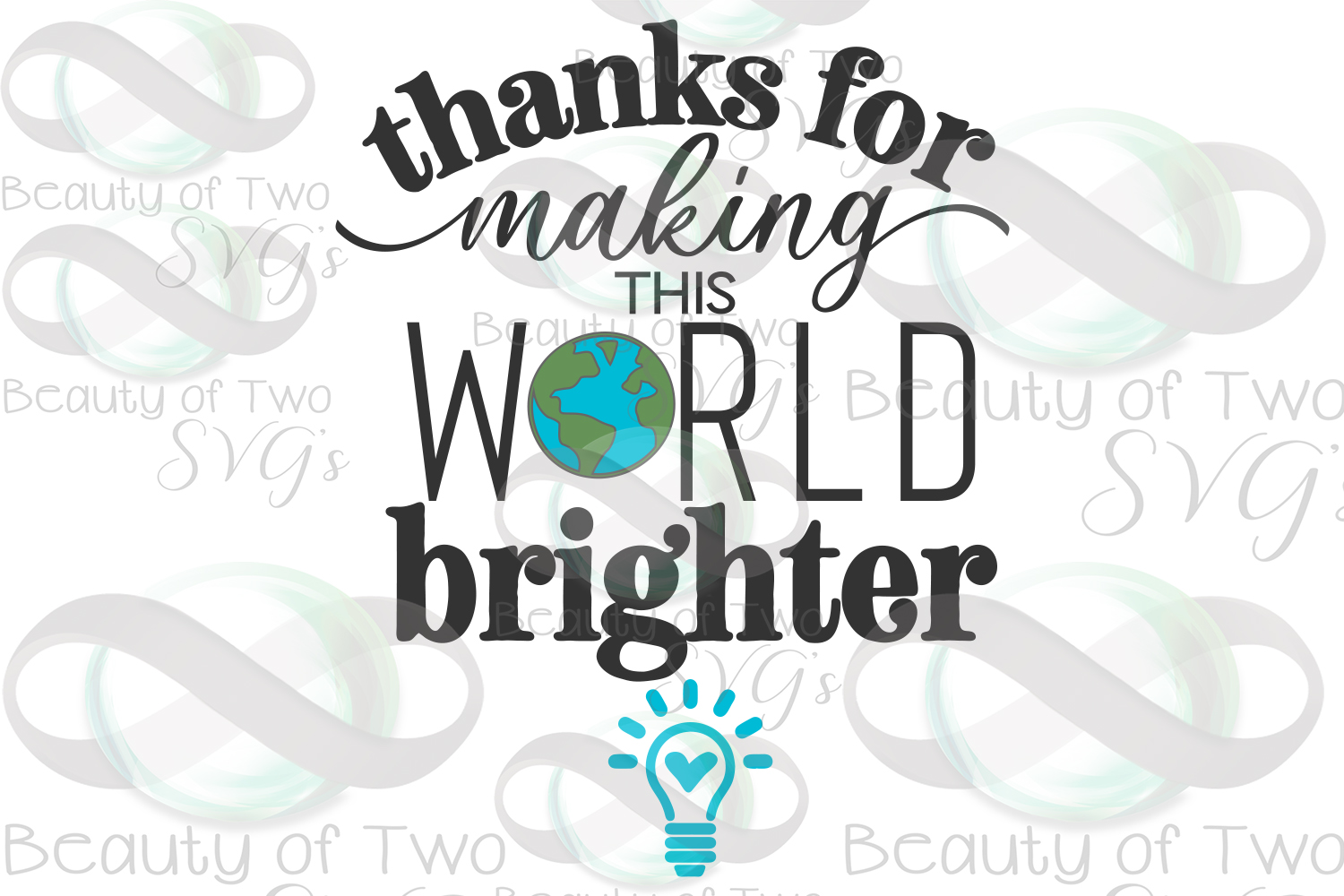 Teacher gift svg, Making the world brighter svg & png, teach example image 3