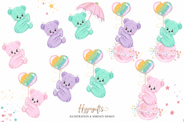 Bears and unicorns clip art example image 2