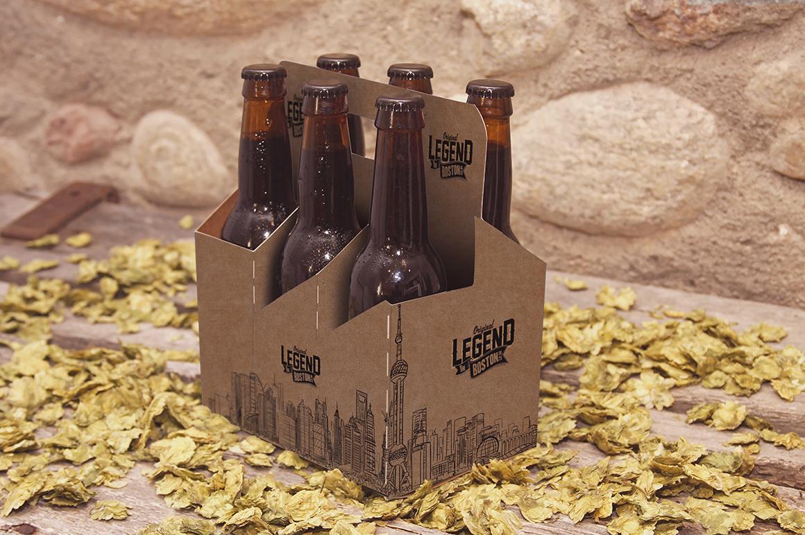 6 Pack Beer Mockup example image 2