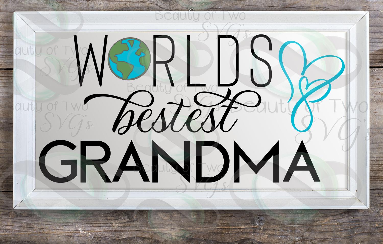 Mothers Day svg & png, Best Grandma svg, Grandmother svg example image 3