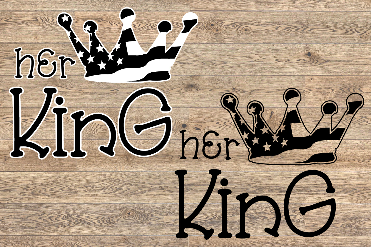 Her King Crown USA Flag SVG Royal 4th July 1264s example image 2