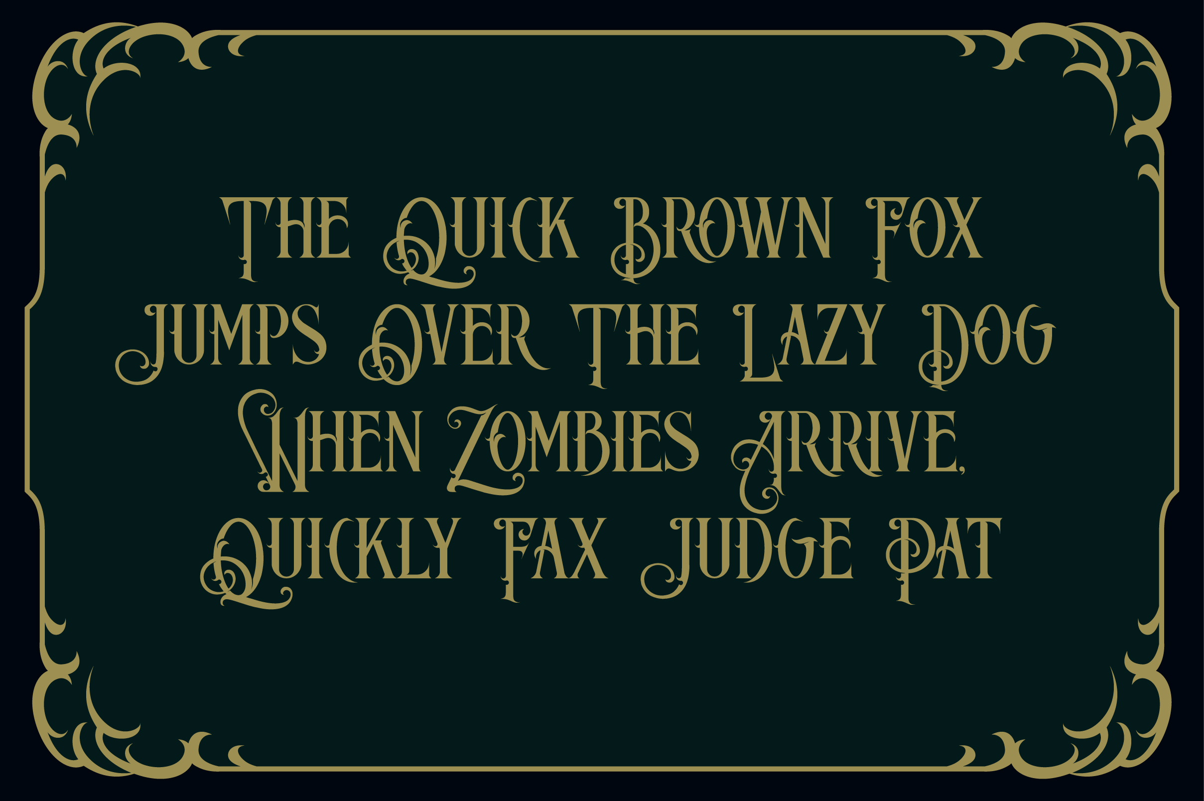 Blackphanter display font example image 2