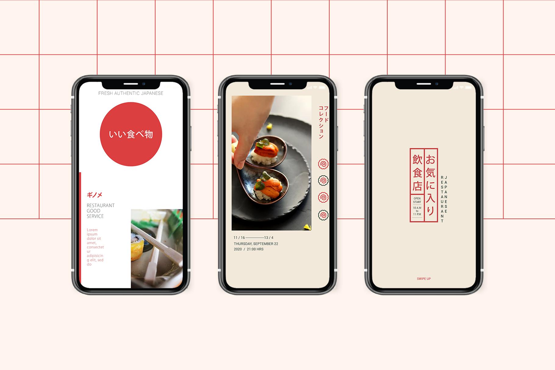 Japan Food Instagram Templates example image 9