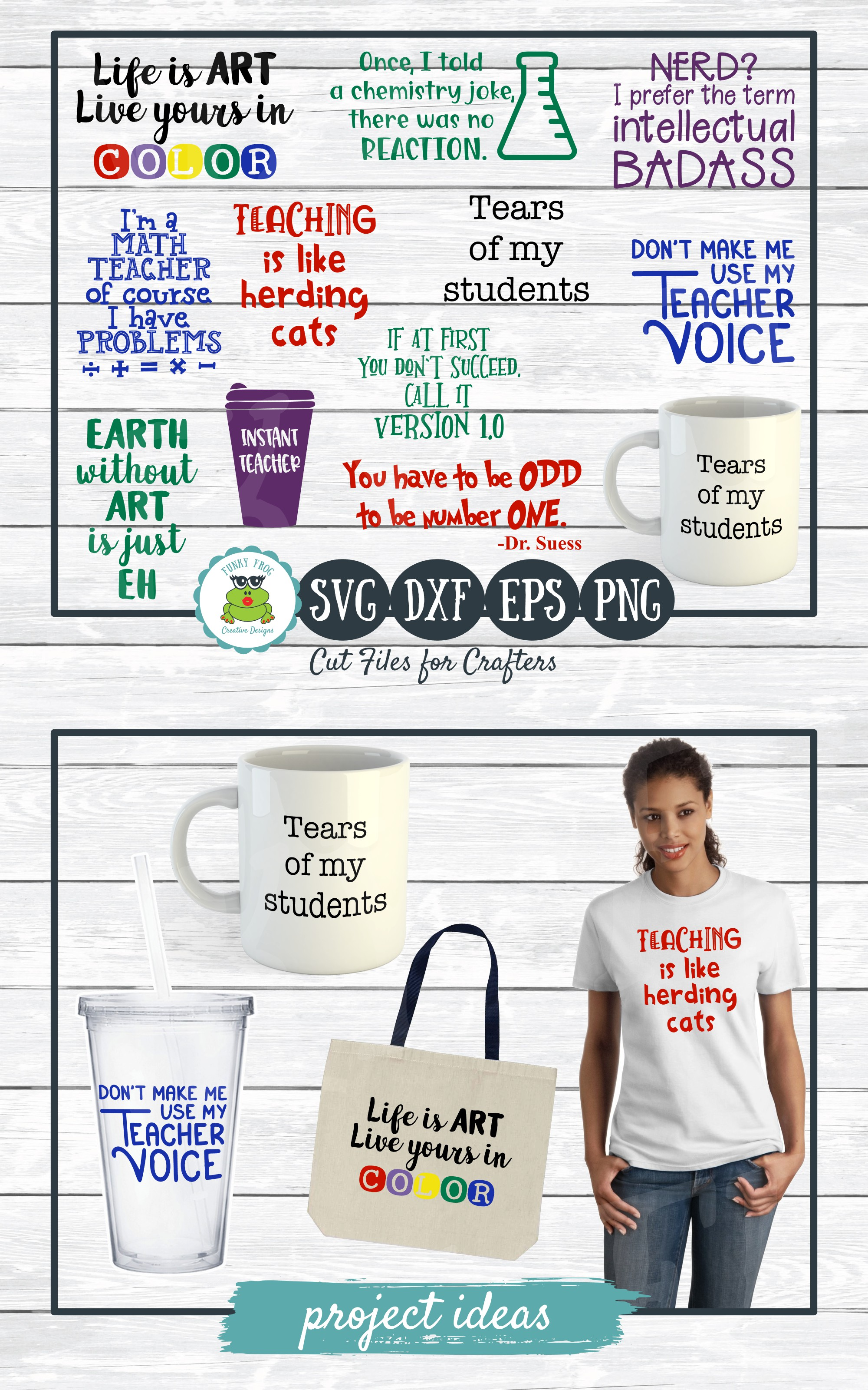 Teacher Designs Bundle- Teacher SVG Cut Files example image 9