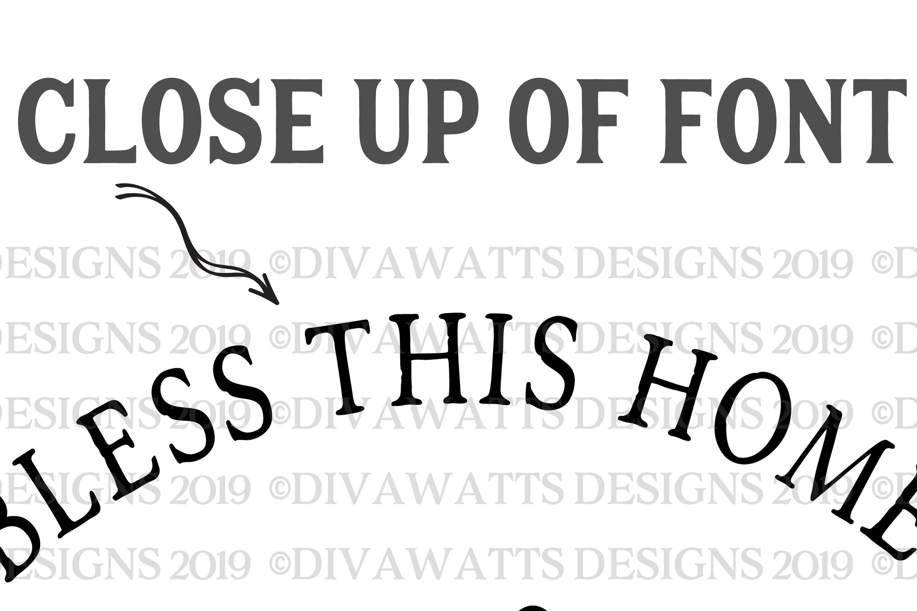 Bless This Home And All Who Enter - Family Name - Round SVG example image 4
