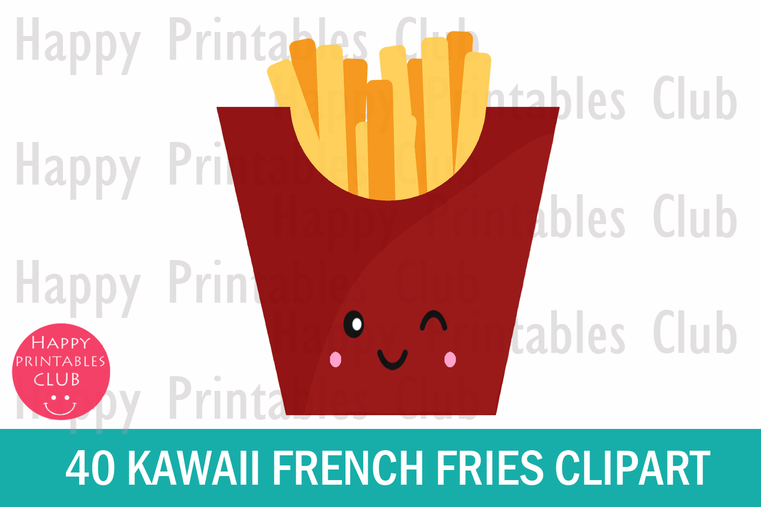 40 Kawaii French Fries Clipart- French Fries Clipart Images example image 2