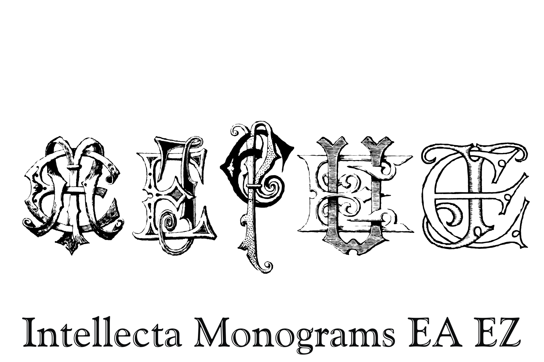 Intellecta Monograms EA EZ example image 8