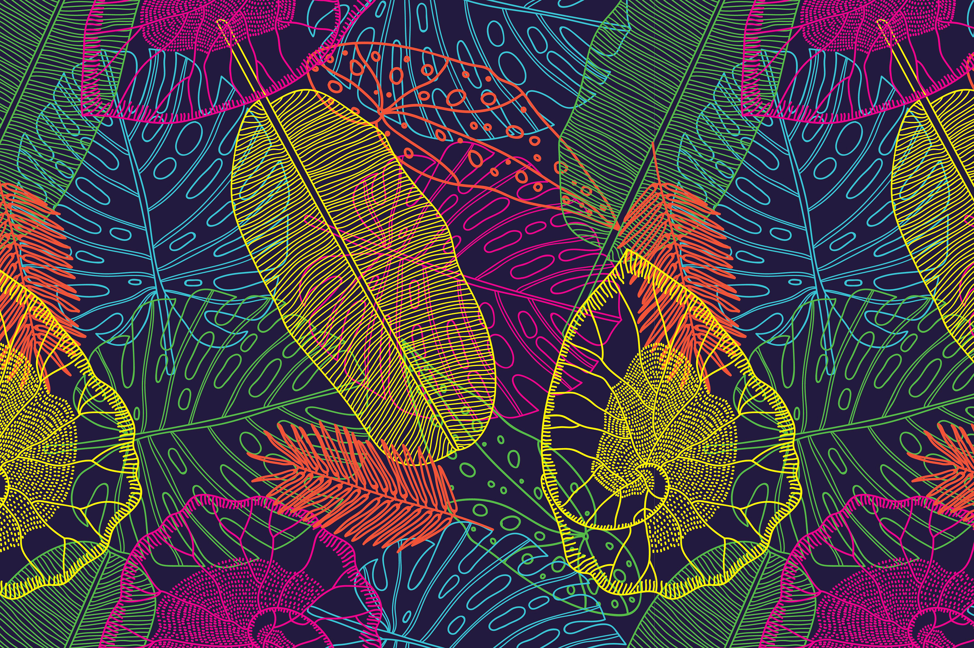 Exotic leaf. Summer mood. example image 10