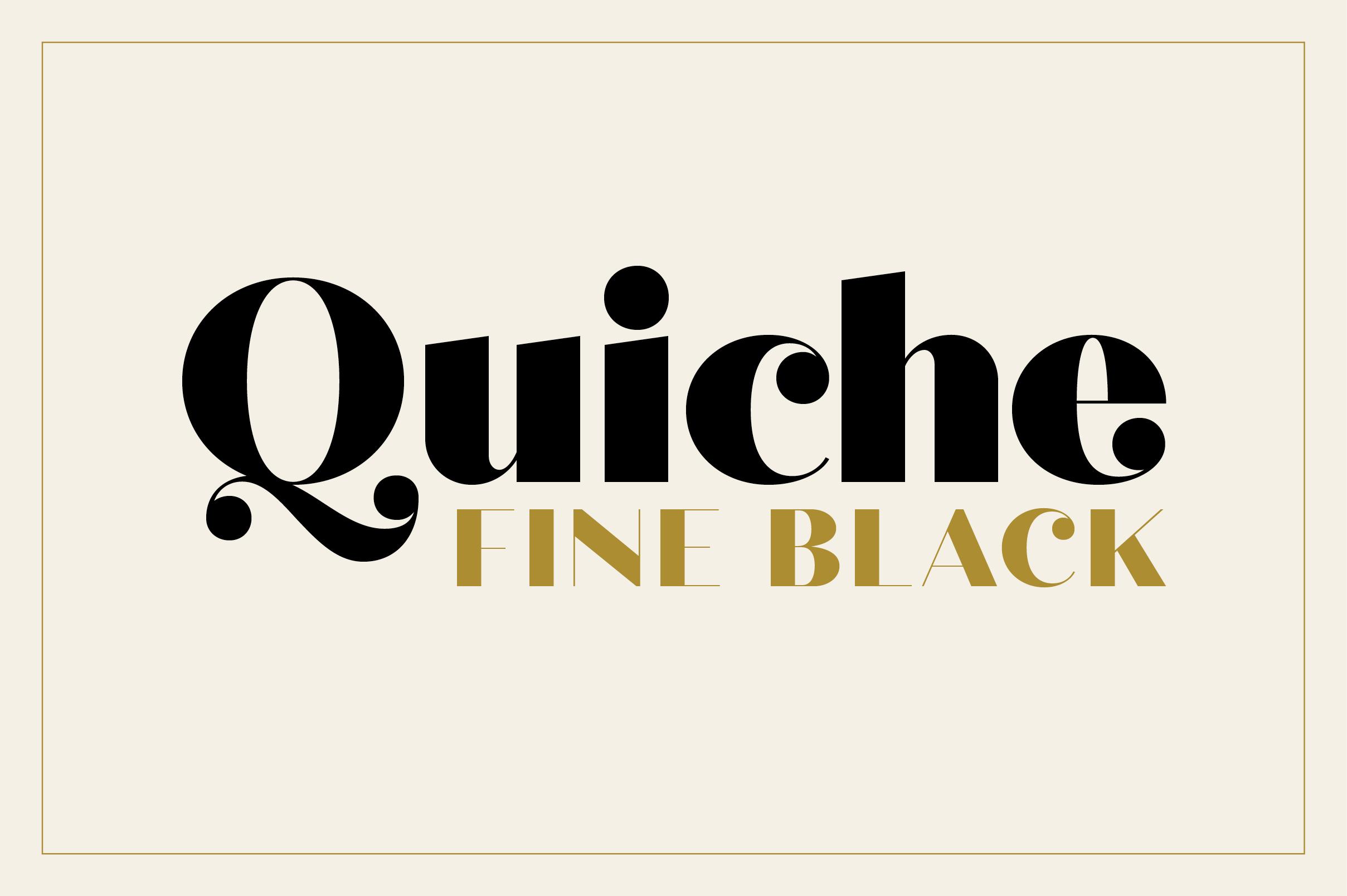 Quiche Fine Black Font example image 1