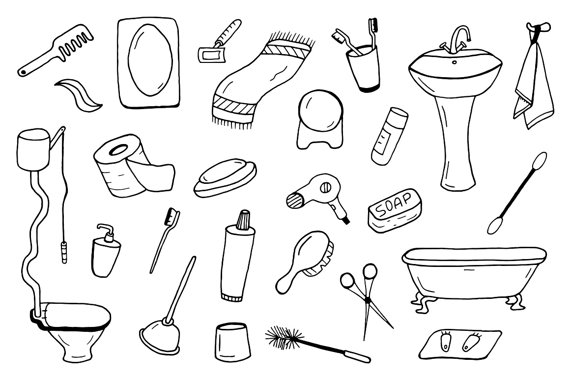 Bathroom accessories collection. example image 1