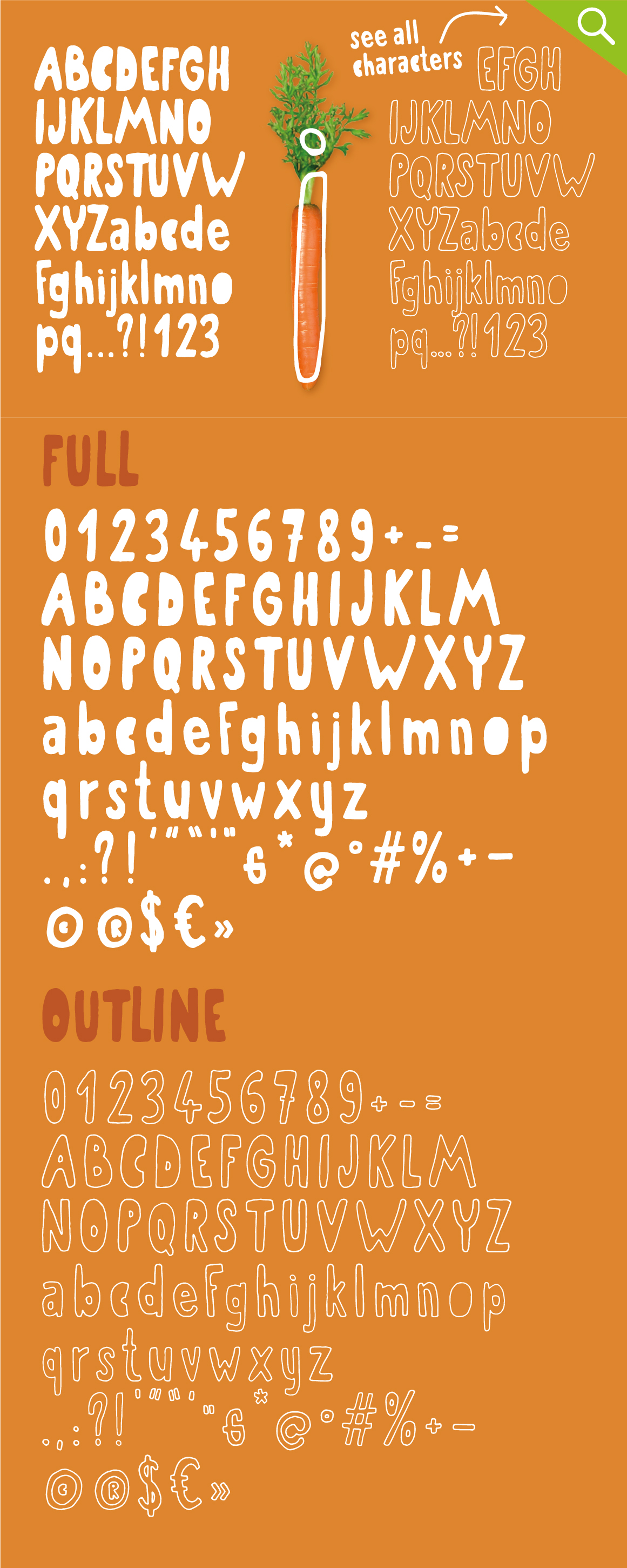 Organic the healthiest font family. example image 5