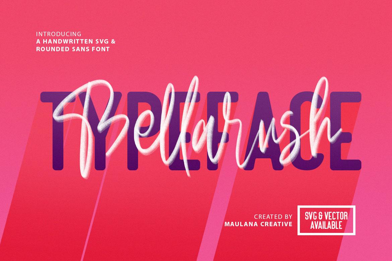 Bellarush SVG Brush Font Free Sans example image 1