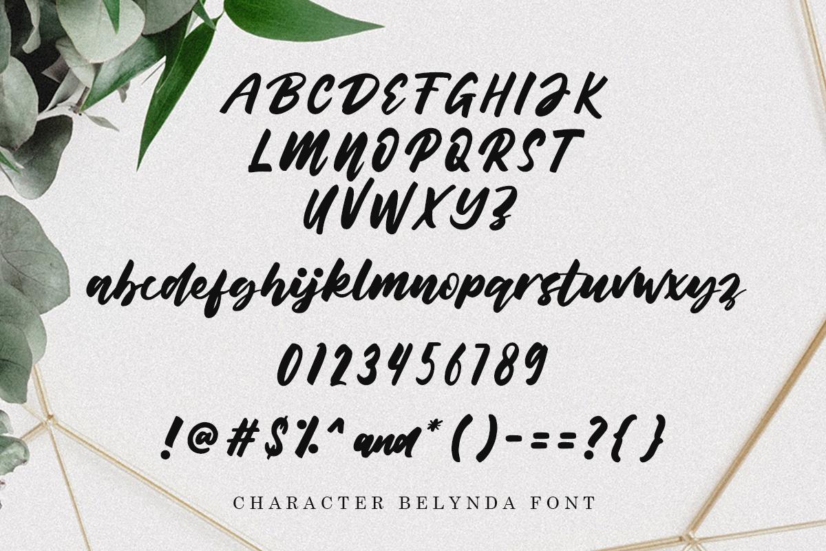 Belynda Font example image 3
