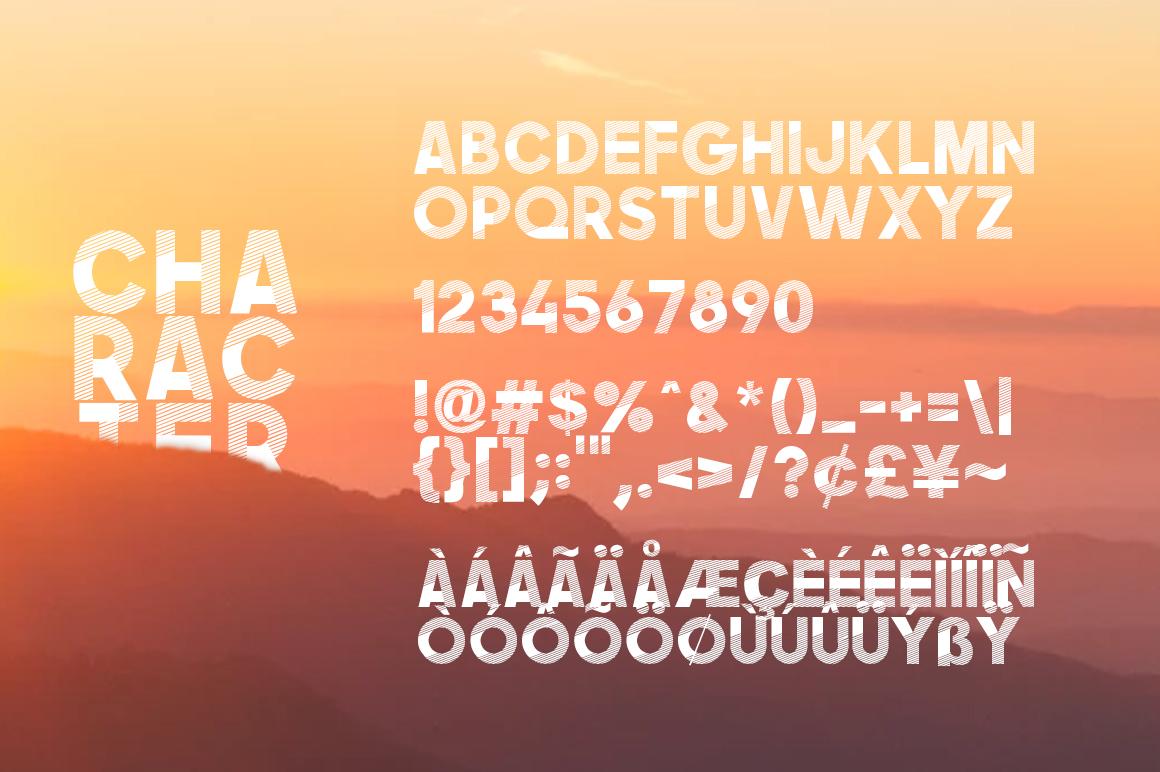 Asans Layered Font example image 7