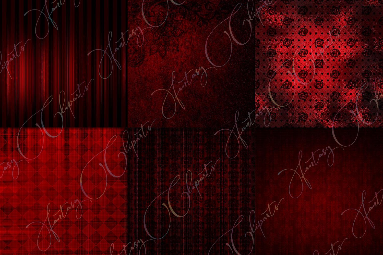 Grunge Red Digital Paper example image 2