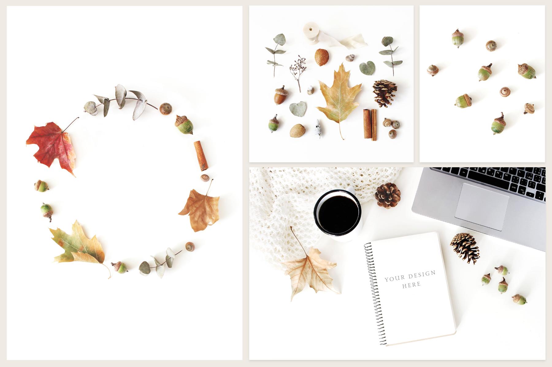 20 Charming autumn mockups & stock photo bundle example image 3