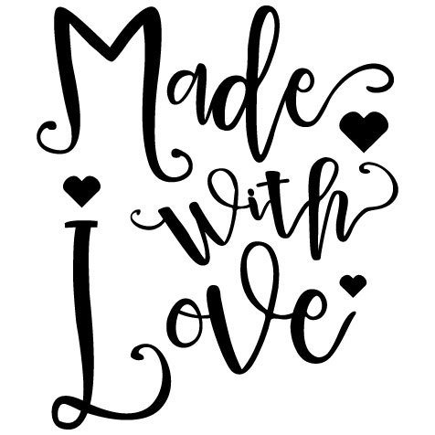Made with Love  Svg Dxf Png Jpg Eps vector file Cut Files example image 2