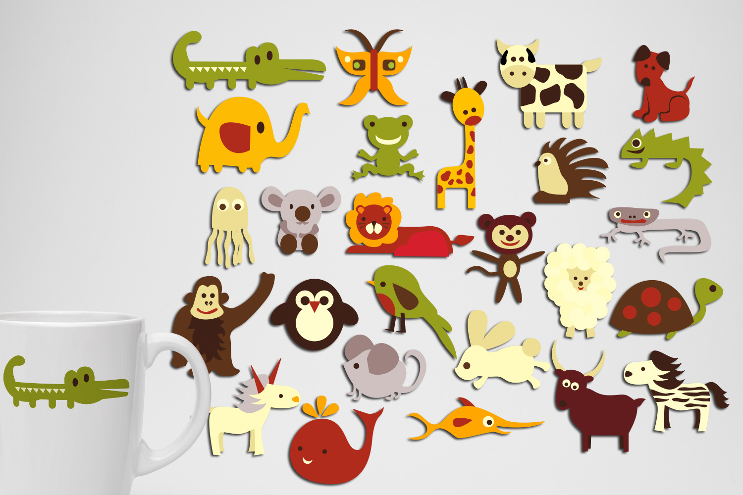 Animals Clip Art Illustrations Huge Bundle example image 5