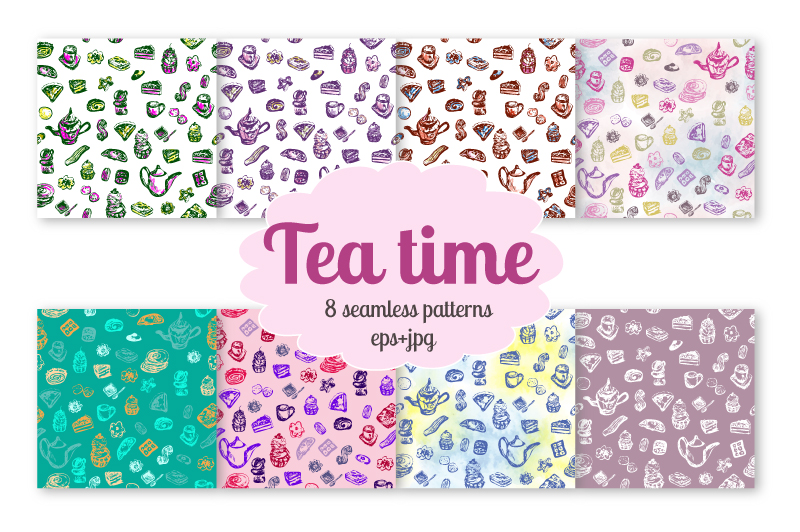 Tea Time - Vector set example image 2