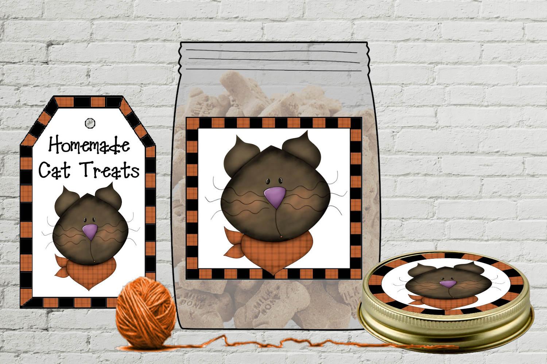 Cat Treat Jar Kit - labels & tags example image 2