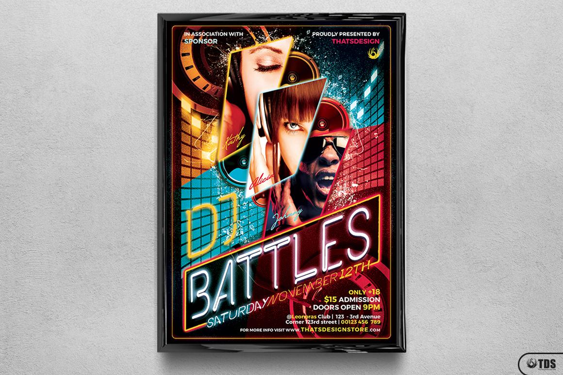 DJ Battle Flyer Template V1 example image 6