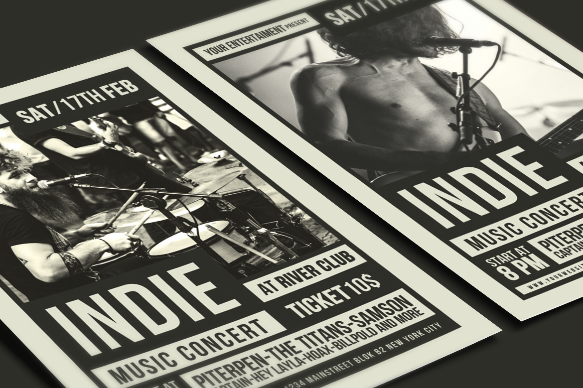 Indie Music Flyer example image 4