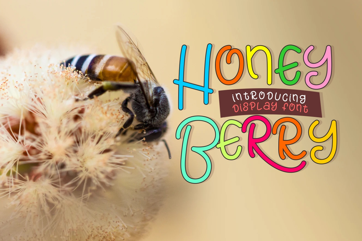 Honey Berry - Playful Font example image 2