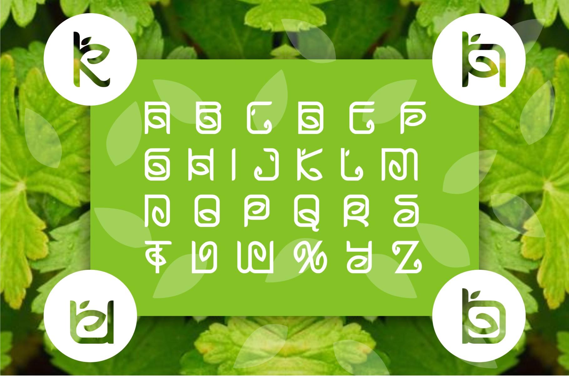 Greentea Logo Font example image 3
