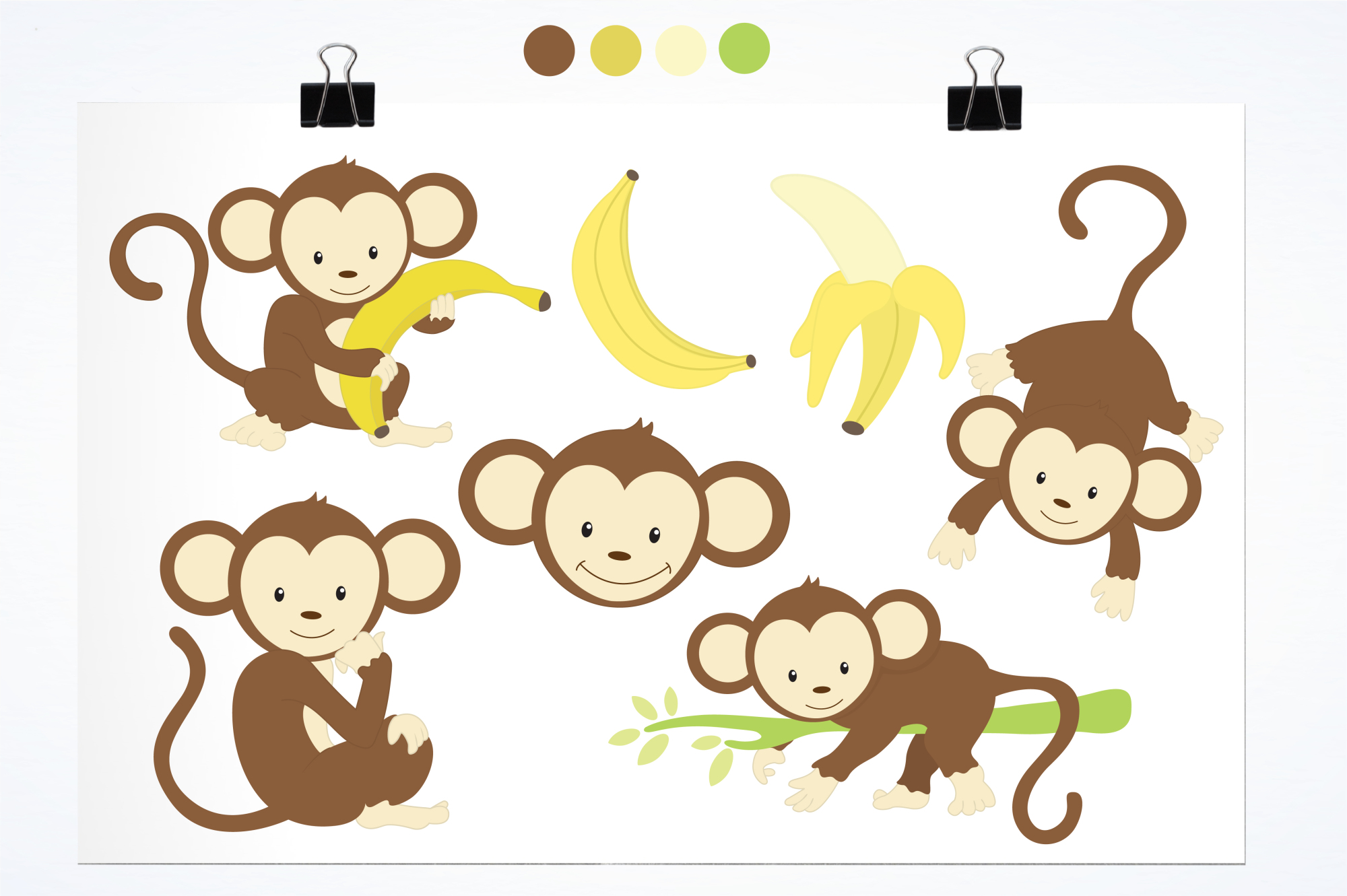 Monkeys graphics and illustrations example image 2