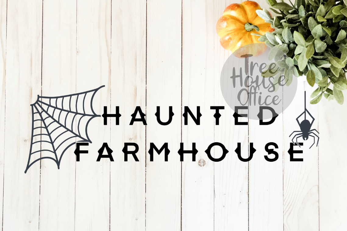 Haunted Farmhouse Halloween Front Porch SIgn SVG PNG JPG DXF example image 3