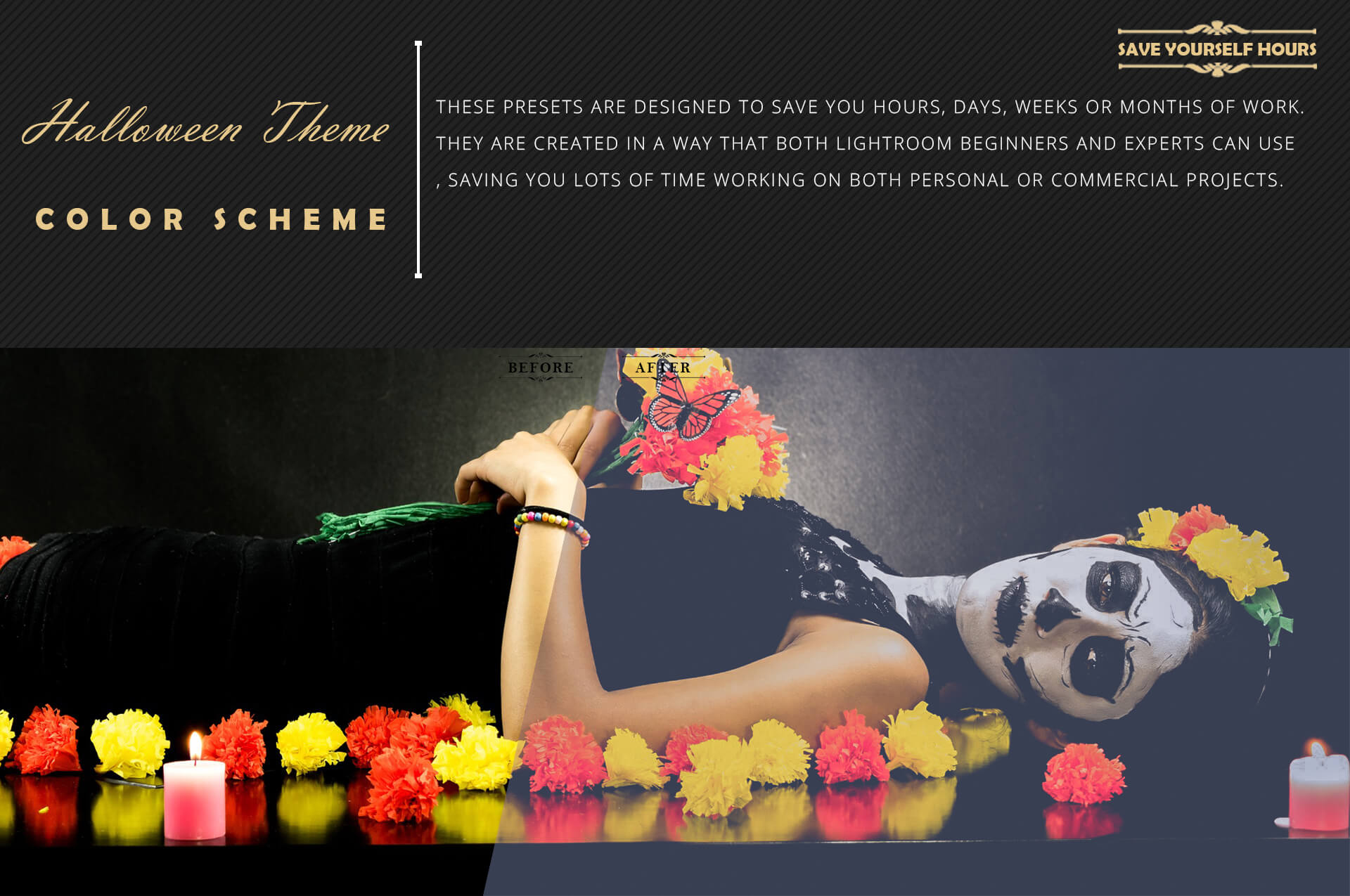 Halloween Theme Collection Color Grading Lightroom presets example image 7