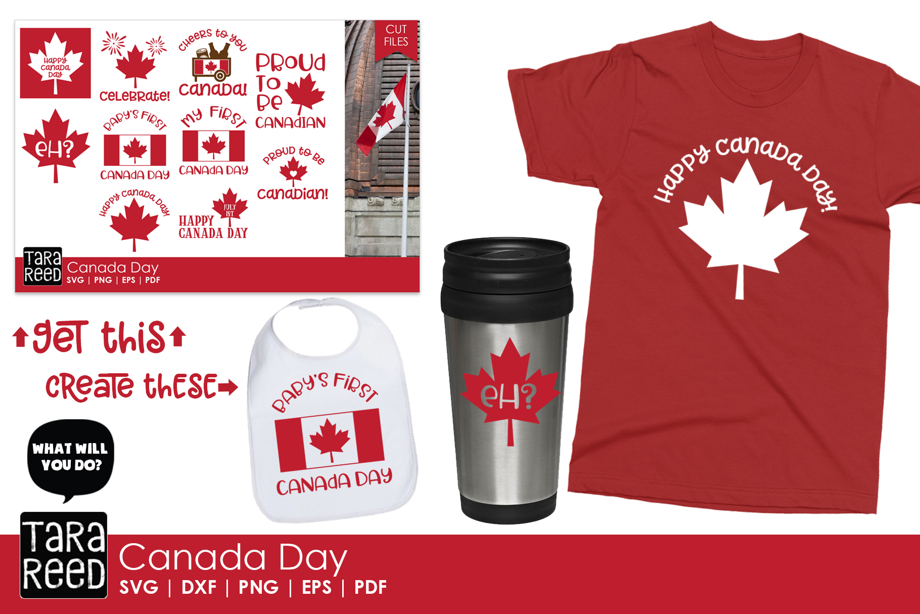 Canada Day - Canadian SVG and Cut Files for Crafters example image 4