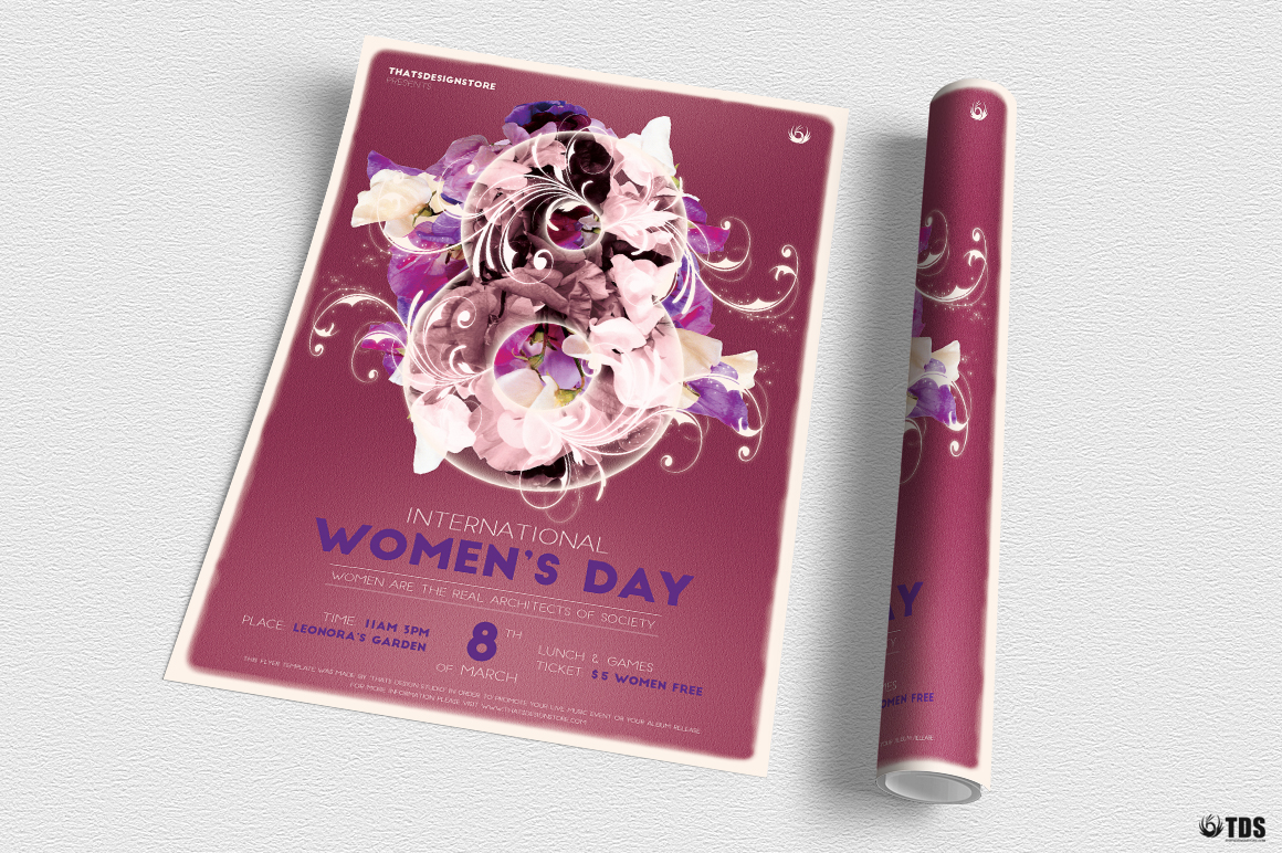 Womens Day Flyer Template V1 example image 3