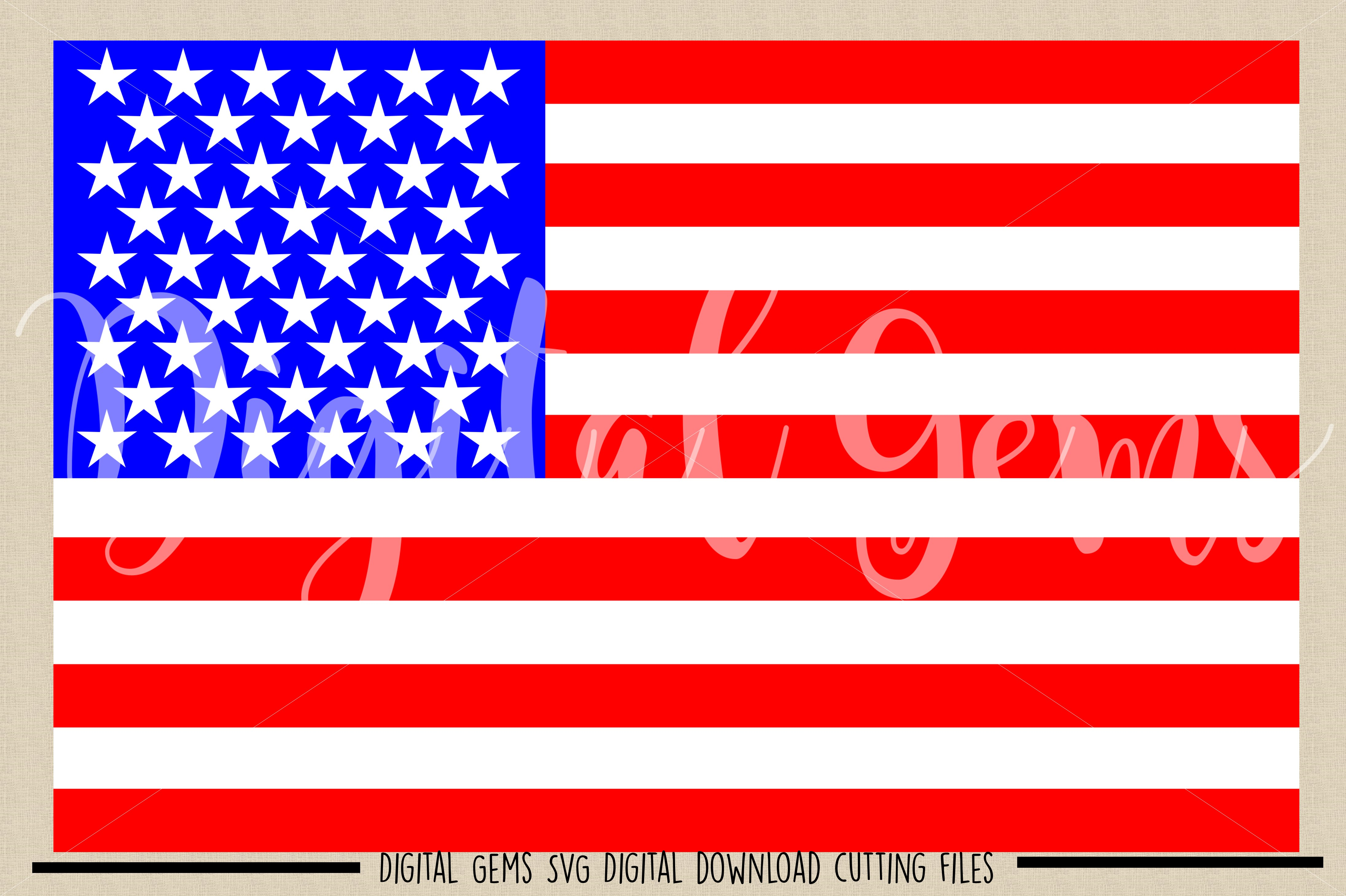 American Flag SVG / PNG / EPS / DXF files example image 2
