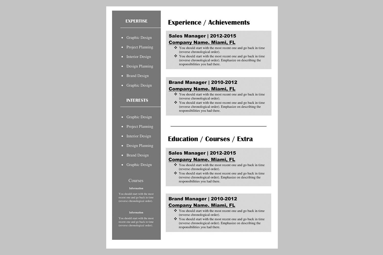 Creative resume template / CV example image 2