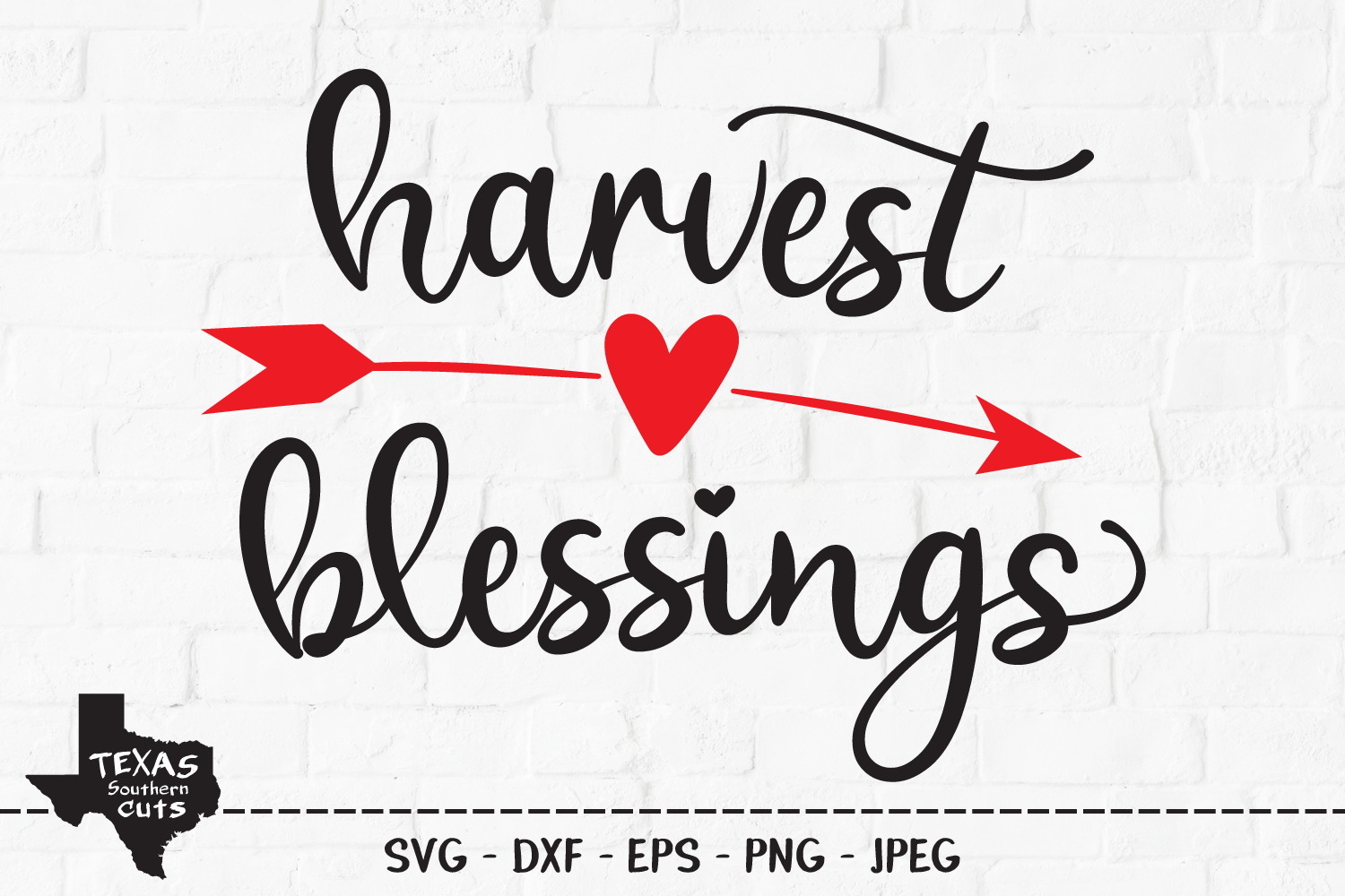 Harvest Blessings SVG, Cut File, Fall Shirt Design, Arrow example image 1