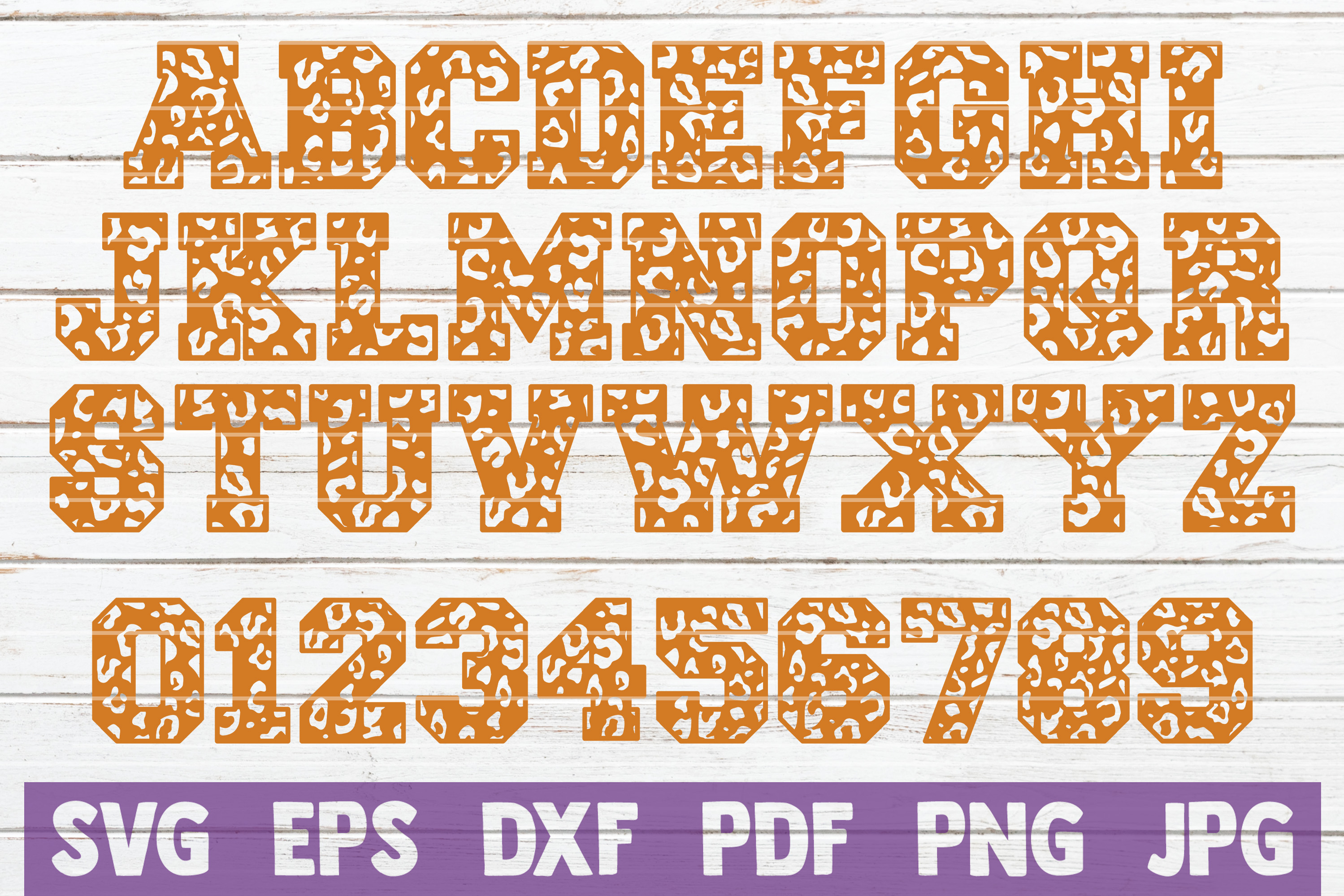 Leopard Letters And Numbers SVG Cut file   Alphabet Cut file example image 1