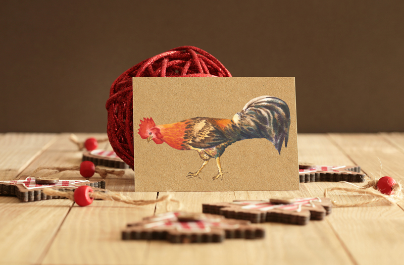 Watercolor Roosters example image 6