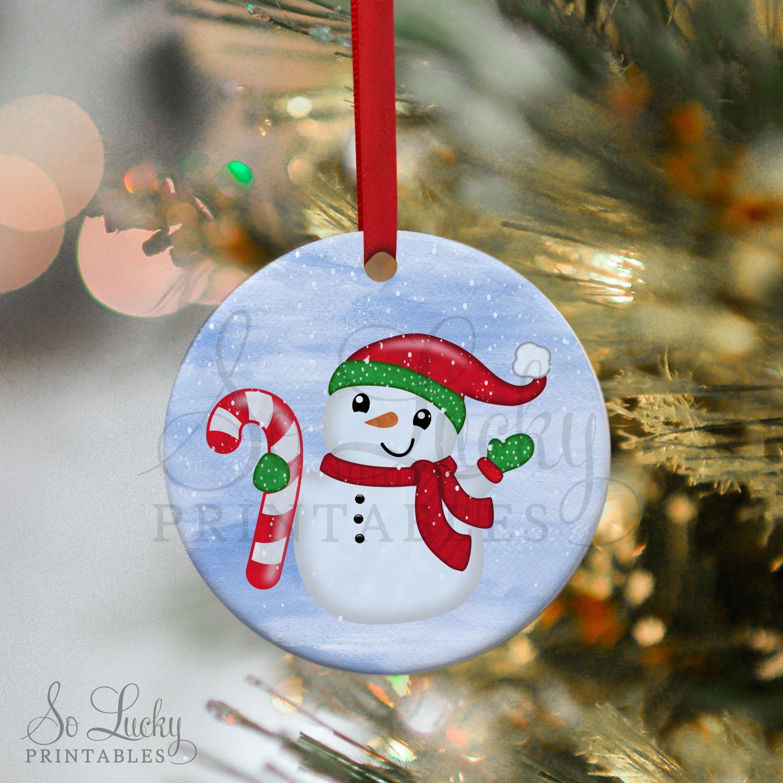 Christmas snowman printable sublimation design example image 2