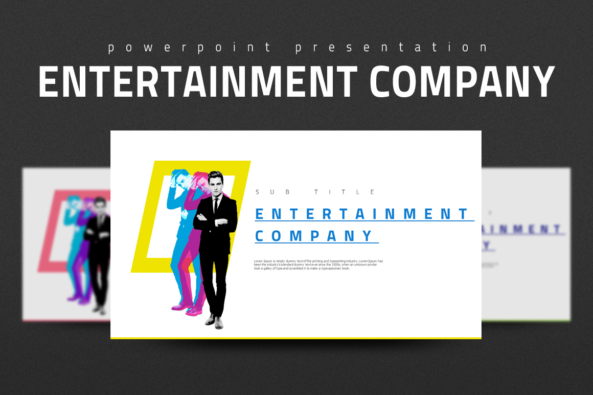 Entertainment Company Presentation example image 1