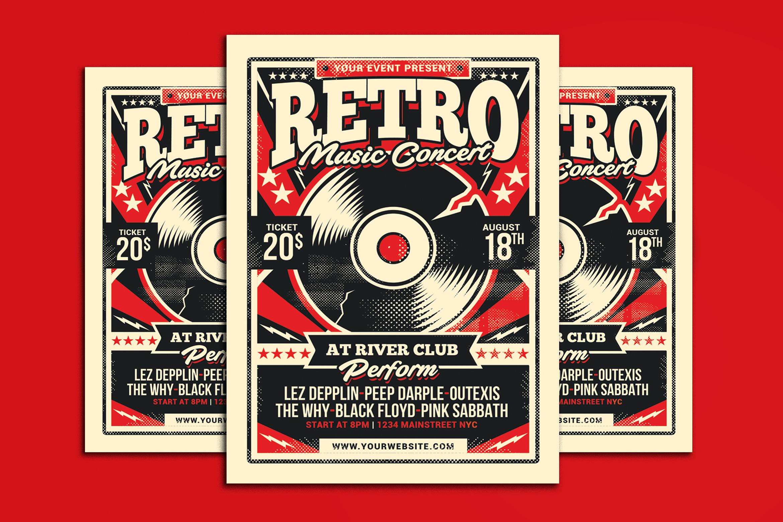 Retro Music Concert example image 1