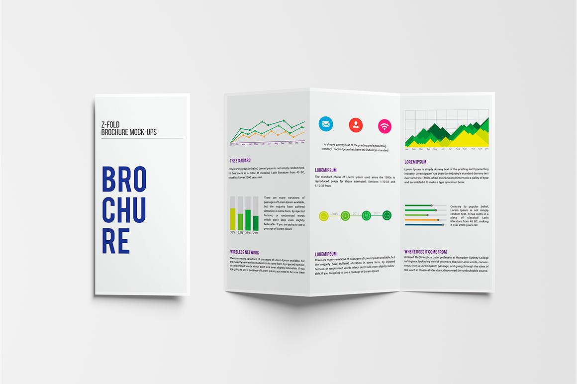 A4 Z-Fold Brochure Mock-Up example image 12