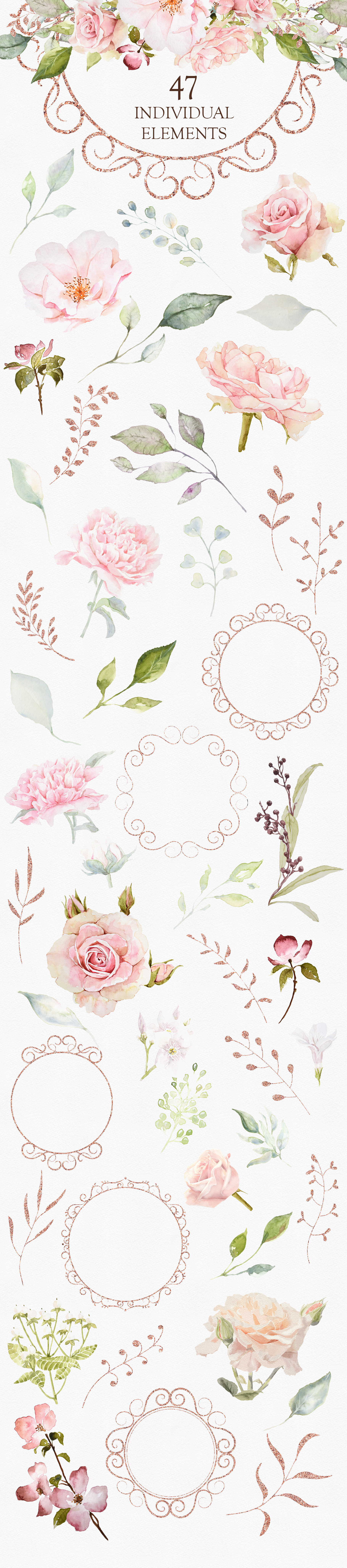 Pretty in Pink Watercolor Collection example image 9