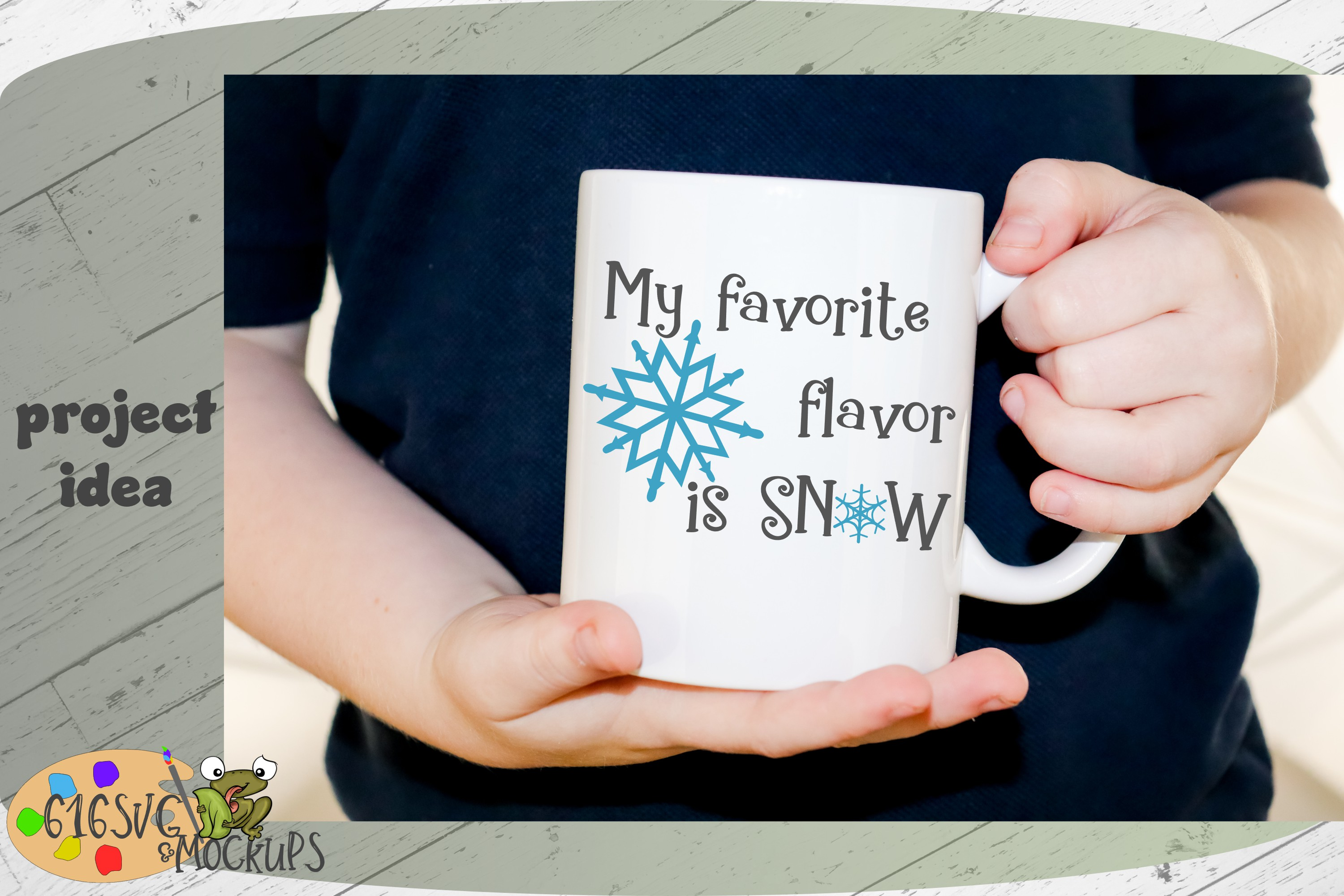 My Favourite Flavour Is Snow SVG example image 8