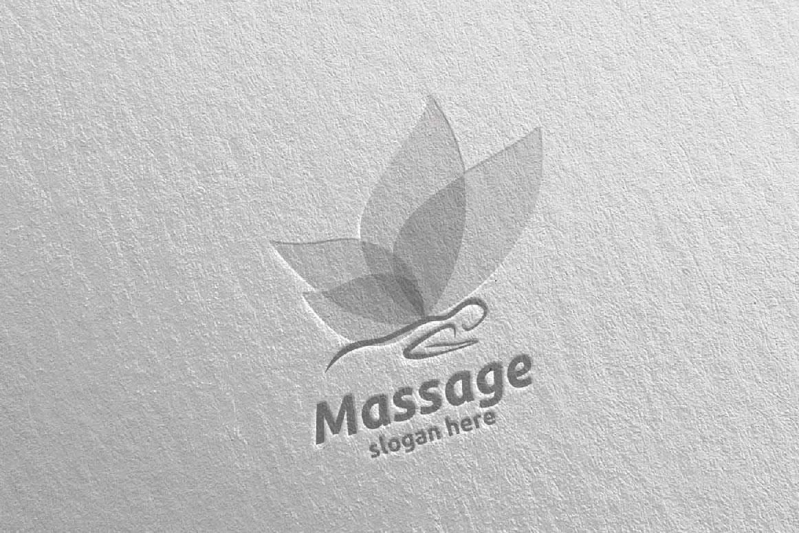 Massage Logo Design 15 example image 3