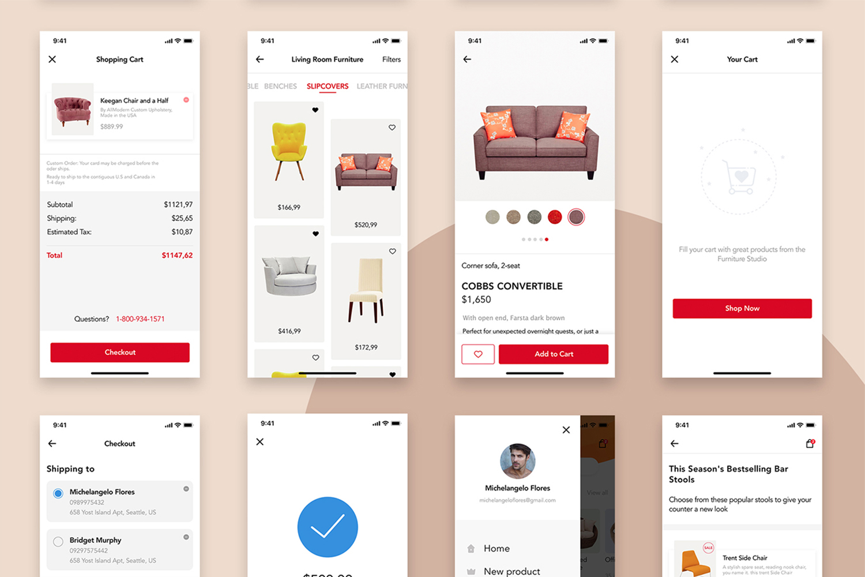 Furniture Design UI Kit example image 7
